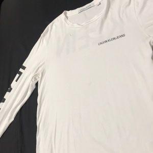 White Calvin Klein jeans long sleeve